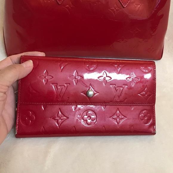 Louis Vuitton Handbags - ✳️SOLD✳️Louis Vuitton monogram vernis red wallet